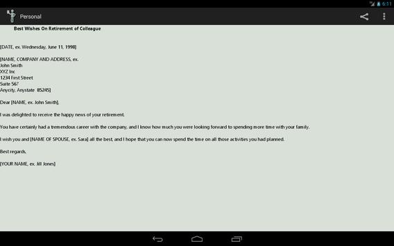 Personal Letter to Friends apk screenshot