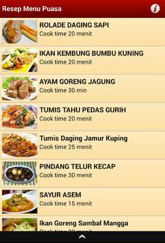Resep Menu Puasa apk screenshot