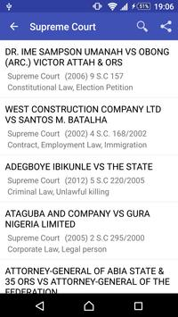 Nigeria Court Reports apk screenshot