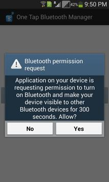 One Tap Bluetooth Manager poster