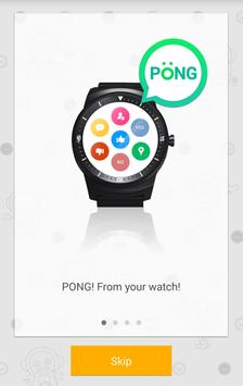 PONG - Reply from Android Wear poster