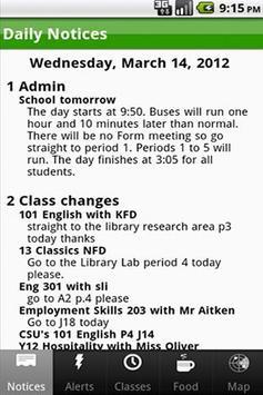 Lincoln High School App poster