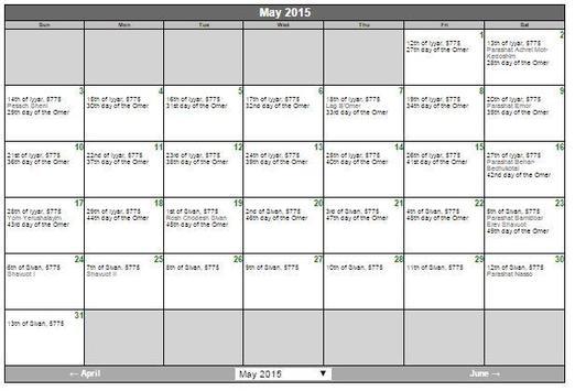 Jewish Calendar apk screenshot