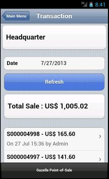 Gazelle POS for Android Phone apk screenshot