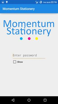 Momentum Stationery poster