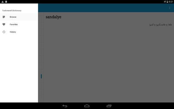 Turkmeneli Dictionary apk screenshot
