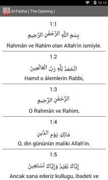 Al Quran - Turkish apk screenshot