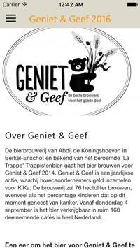 Geniet & Geef 2016 poster