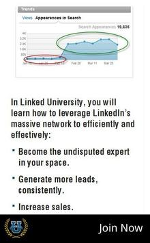 Linked University for LinkedIn apk screenshot