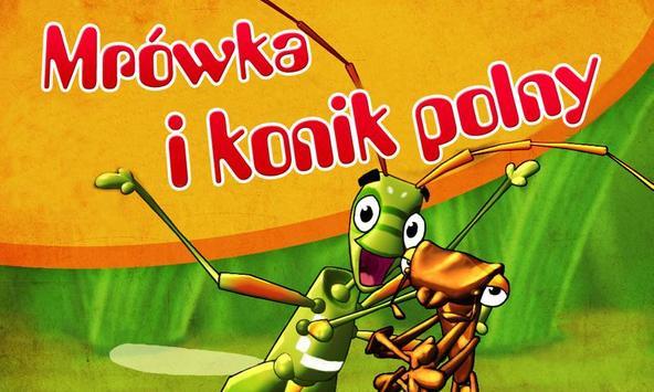 Mrówka i konik polny poster