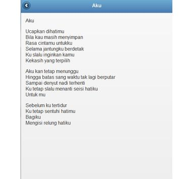 LIRIK LAGU POP INDONESIA apk screenshot