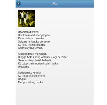 Lirik Lagu Pop apk screenshot