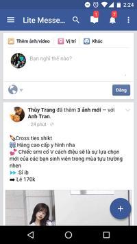 Lite Messenger for Facebook apk screenshot