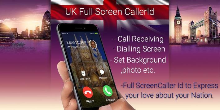 UK Full Screen Caller ID poster