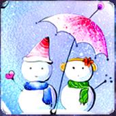 Snowman Love Live Wallpaper icon