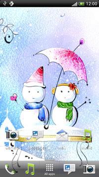 Snowman Love Live Wallpaper apk screenshot