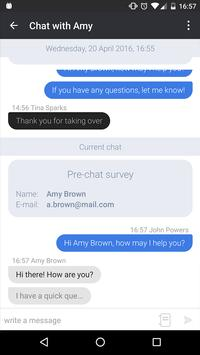LiveChat for Android apk screenshot