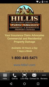 Hillis Public Adjusters poster