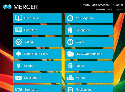 Mercer 2015 LAHR Forum apk screenshot