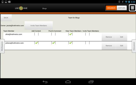 LiveHive Tablet apk screenshot