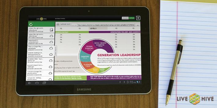 LiveHive Tablet poster