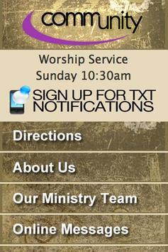 Community Bible Church poster