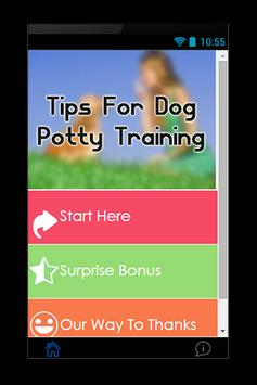Tips For Dog Potty Training poster