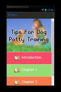 Tips For Dog Potty Training apk screenshot