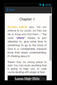 Learn Holy Bible Guide apk screenshot