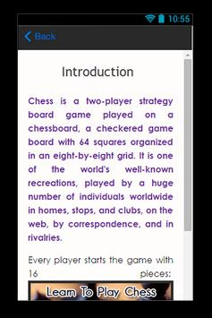 Learn To Play Chess Guide apk screenshot