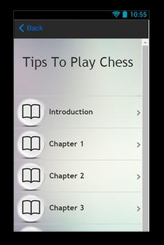Tips To Play Chess apk screenshot
