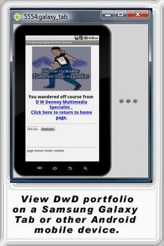 D W Denney Resume Portfolio poster