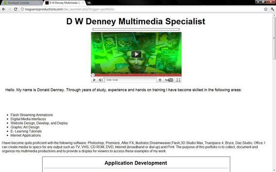 D W Denney Resume Portfolio apk screenshot