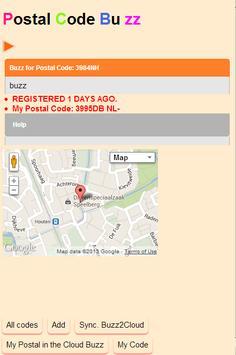 PostalCodeBuzz apk screenshot