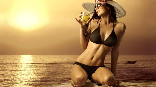 Hot Bikini Girls HD Wallpapers apk screenshot