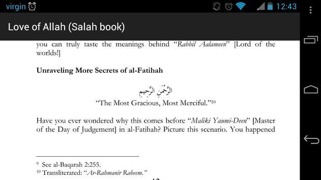 Love of Allah (Salah e-Book) apk screenshot