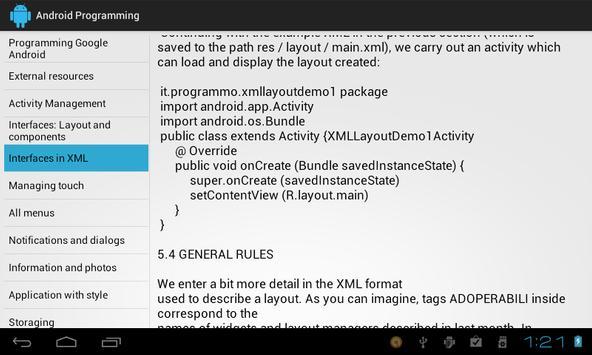 Programming Android apk screenshot