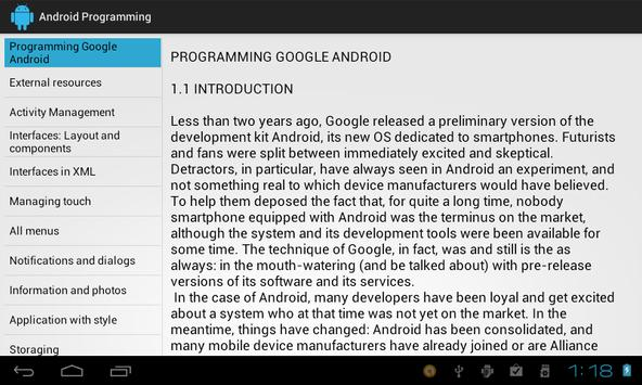 Programming Android poster
