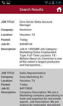 Sales Job Search apk screenshot