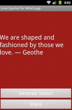 Love quotes for Whatsapp apk screenshot