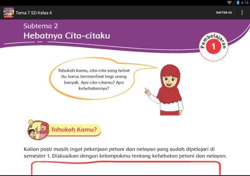 BSE Kur 2013 SD Kelas 4 Tema 7 apk screenshot