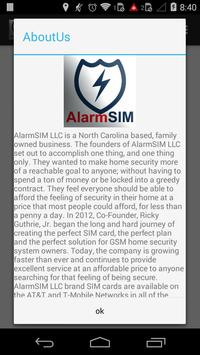 AlarmSIM apk screenshot