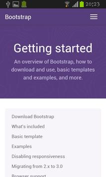 Bootstrap 3.1 docs and example apk screenshot