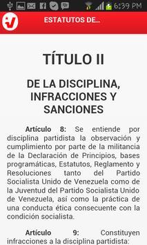 Estatutos del JPSUV Venezuela apk screenshot