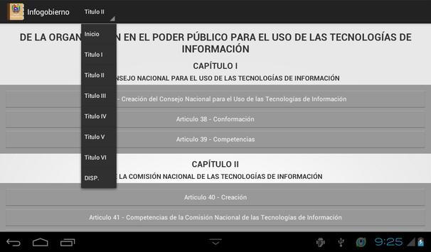 Ley de INFOGOBIERNO Venezuela apk screenshot