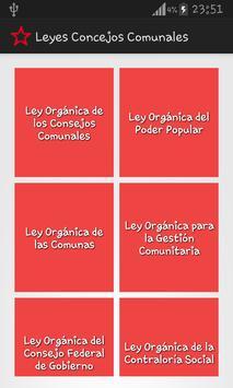 Leyes Consejos Comunales poster