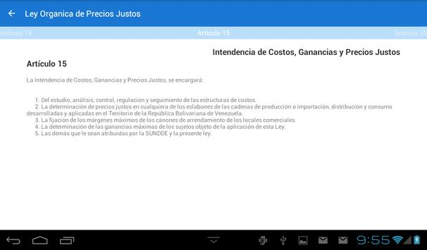 Ley Organica de Precios Justos apk screenshot