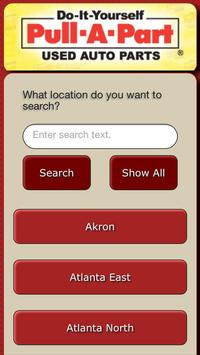 Pull-A-Part Used Auto Parts apk screenshot
