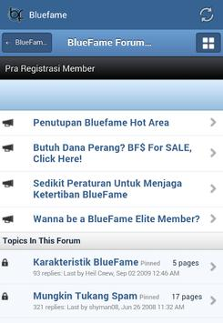 Bluefame apk screenshot