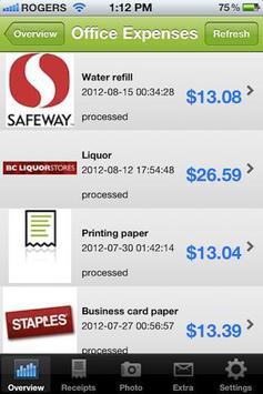 Receipt Reader, Expense Report apk screenshot